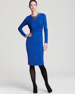 Lafayette 148 New York Gathered Twist Front Dress