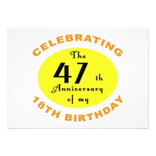 65th Birthday Gag Gift Personalized Invitations