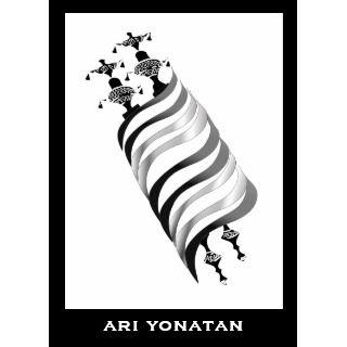 Ari Yonatan Torah Bar Mitzvah Invitation Black invitation