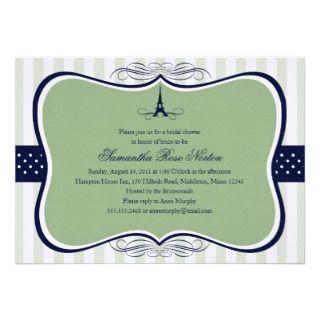 ower Paris Bridal Shower Personalized Inviaion