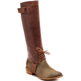 Brown Cognac Leather Knee Boots