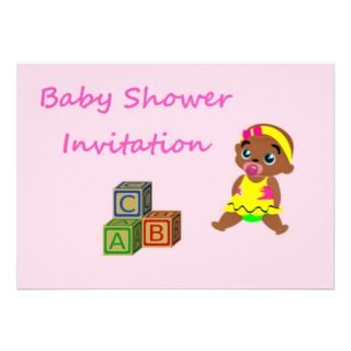 Baby Shower Invitation for African american baby