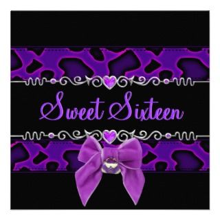 Purple Butterfly Birthday Party Invitations, Announcements, & Invites
