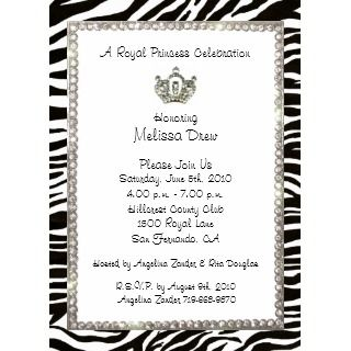 Tiara Gone Wild Invitations invitation