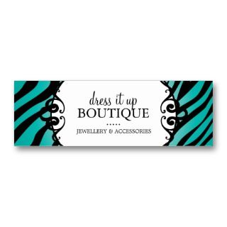 Jewellery Designer Hang Tags Business Card Template