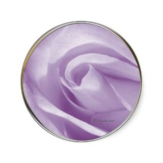 Pale Lavender Wedding Invitation Seal Round Sticker
