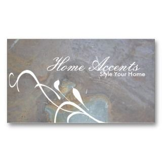 Interior Decorating Rock Texture Business Card