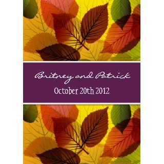 Autumn Purple Falling Leaves Wedding Invitations_invitation