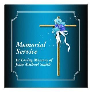 Memorial service invitation announcement memory