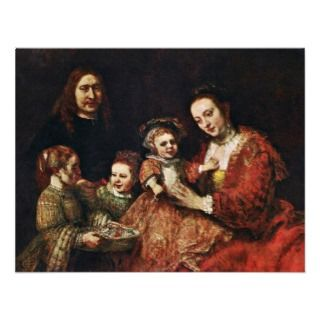 Family Portrait By Rembrandt Harmenszoon Van Personalized Invite