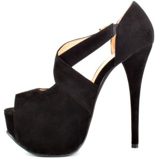 Luichinys Black Wide Eyed   Black Suede for 89.99