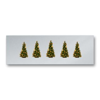 Seasons Gold Greetings Christmas Tags Business Cards