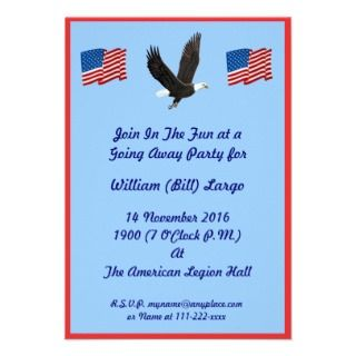 Air Force Boot Camp Going Away Party Invitation
