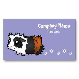 Guinea Pig (tortoiseshell) Business Card Template
