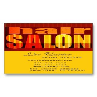 Beauty Salon Text Design Bold Business Card Templates