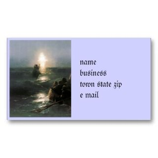 Jesus Walking on Stormy Seas Business Cards