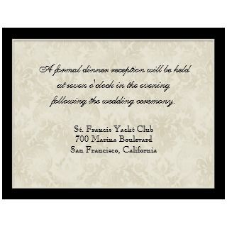 Tan n Cream Red Tulip Damask   Wedding Invites invitation
