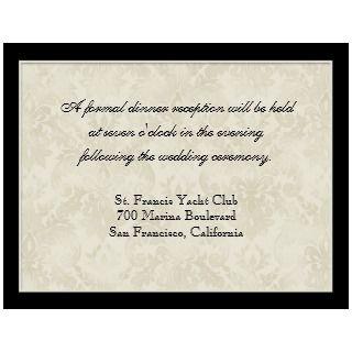Tan n Cream Red Tulip Damask   Wedding Invites invitation
