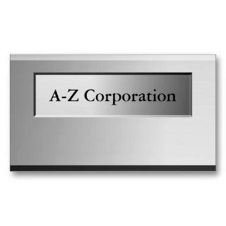 Bold Metal  Name Plate Business Cards