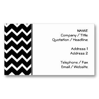 and White Zig Zag Pattern. Business Card Template