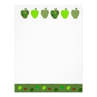 Digital Collage Apples Custom Letterhead