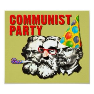 Communist Party Funny Spoof Poster Sign posters by FunnyBusiness