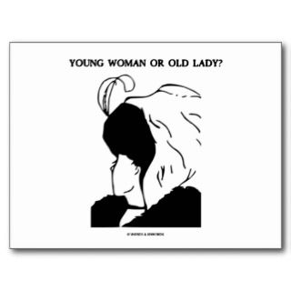 Young Woman Or Old Lady? (Optical Illusion) Custom Announcements
