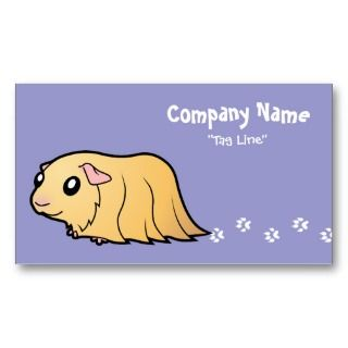 Cartoon Guinea Pig (cream) business cards by SugarVsSpice