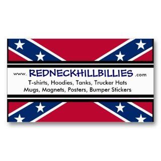 Redneck Hillbillies Advertisement Confederate Flag Business Cards