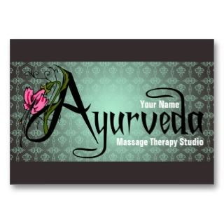 Ayurveda   Business  / Schedule Card Business Card Template