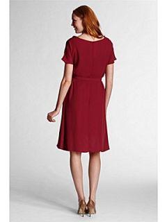 Lands End Women`s georgette ruffle dress Red