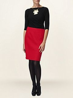 Phase Eight Erin textured pencil skirt Red