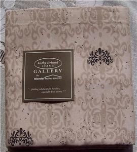 ACCENTS/KATHY IRELAND HOME GALLERY NEW COLONY FABRIC SHOWER CURTAIN