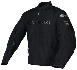 Joe Rocket Black Kawasaki ZX Textile Jacket 2XL XXL
