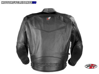 Joe Rocket Super Ego Leather Jacket Black XL New