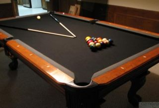 ... Beautiful 8 Kasson Maple Pool Table Black Felt Atlanta ...