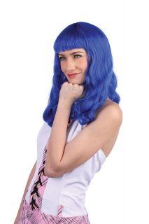 Katy Perry Wig California Gurls Girls Blue Black Ladies Fancy Dress