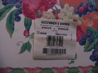 Rolls KATZENBACH and WARREN Fruit Pattern Wallpaper Border 13 1/2 in