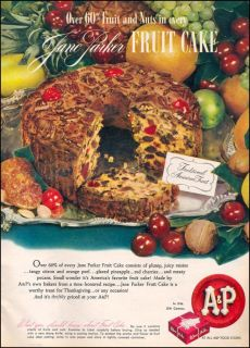 Jane Parker Fruit Cake Light Fruitcake Ring 48 oz 3 lb Fresh Large A P