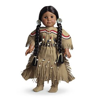 American Girl Kaya Doll Deerskin Adorned Dress Moccasin Shoes Outfit