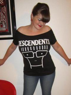 Descendants DIY Shirt Ramones Misfits Black Flag Punk Rock NOFX Tiger
