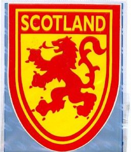 Lion Rampart Royal Standard Arms Scottish Decal Car Sticker