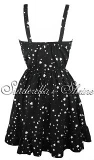 Hell Bunny Kelis Black White Rock Star Party Dress XS XL 6 14