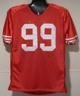 Aldon Smith Autographed Signed San Francisco 49ers Red Size XL Jersey