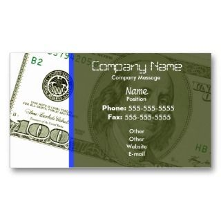 One thousand dollar bill business card for 100 dollar bill business cards