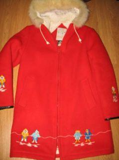 Vtg Kelsey Trails Eskimo Wool Fur Trim Parka Coat Jacket Size 10