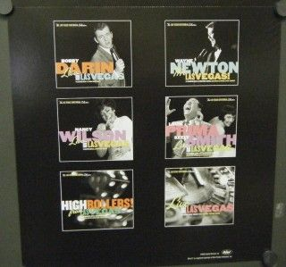Live from Vegas Double Sided Mini Promo Poster Flat Elvis Sinatra Dean