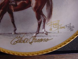 Fred Stone Horse Plate Kelso Signature Ed RARE