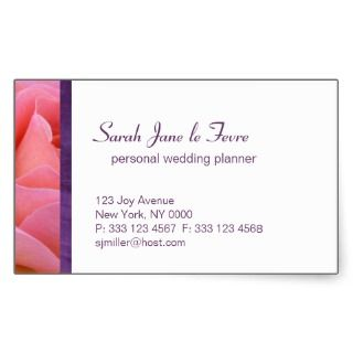 Wedding planner profile business sticker