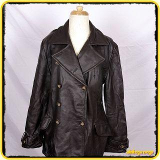 Kenneh Cole Reacion Heavy Lambskin Leaher Jacke Coa Womens Size L